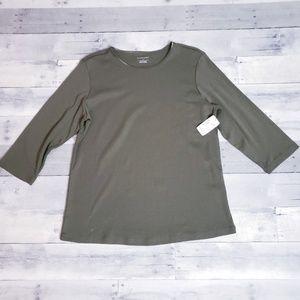 Christopher & Banks Basic Long Sleeved T-shirt